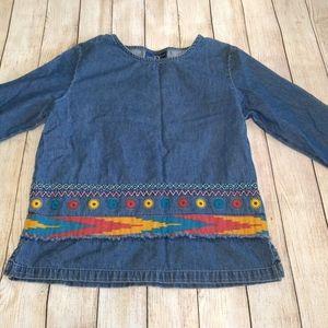 Original TY Wear denim Aztec shirt size 10